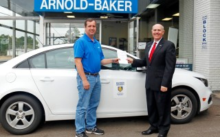 Arnold Baker Chevrolet donates use of car to SAU