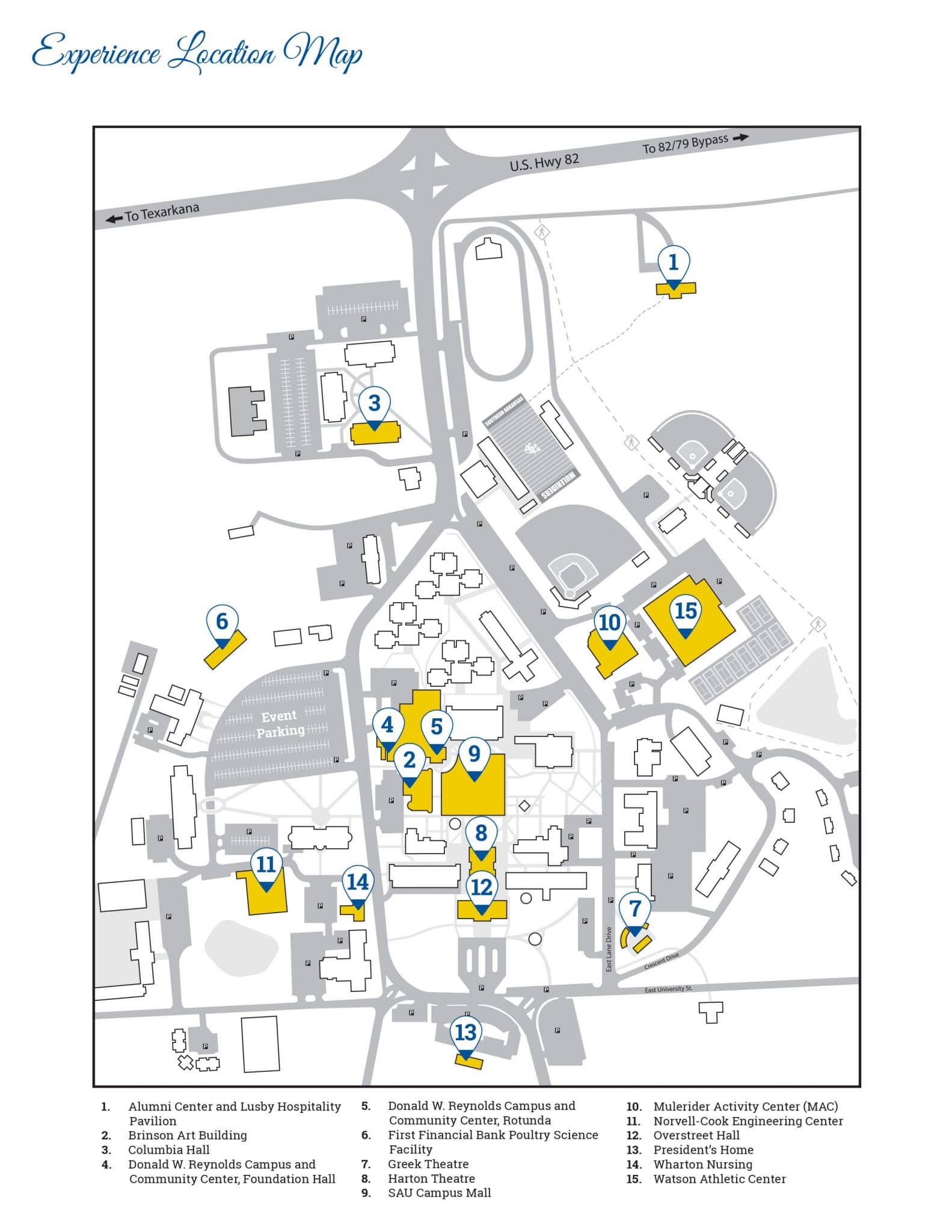 sau magnolia campus map Lights Love And Loyalty Event Information Sau Foundation
